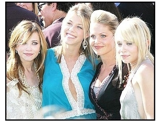"""(L-R) Mary-Kate Olsen, Jodie Sweetin, Candace Cameron and Ashley Olsen at the """"New York Minute"""" Premiere"""