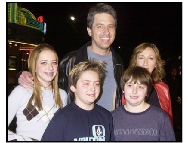 """Ray Romano and family at the """"Welcome to Mooseport"""" Premiere"""