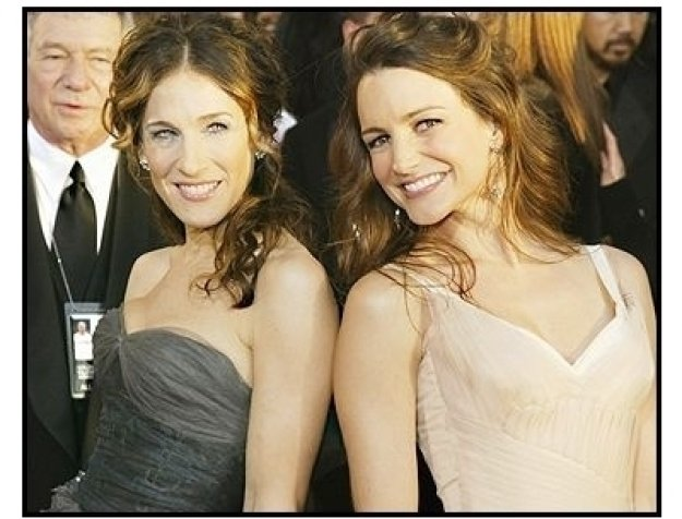 61st Annual Golden Globes Awards--Red Carpet--Sarah Jessica Parker and Kristen Davis--Getty--ONE TIME USE ONLY