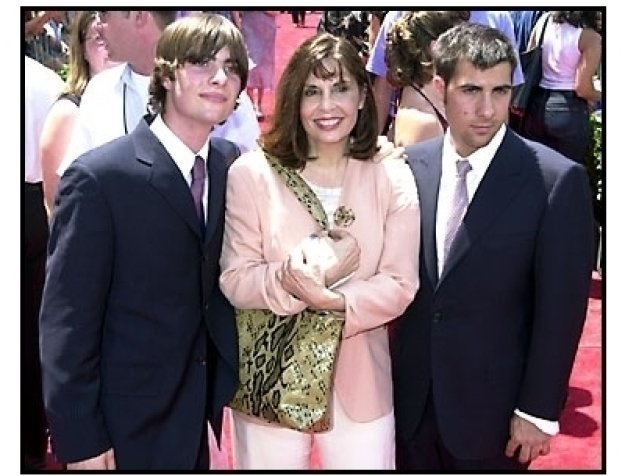 Talia Shire and Robert and Jason Schwartzman at The Princess Diaries premiere