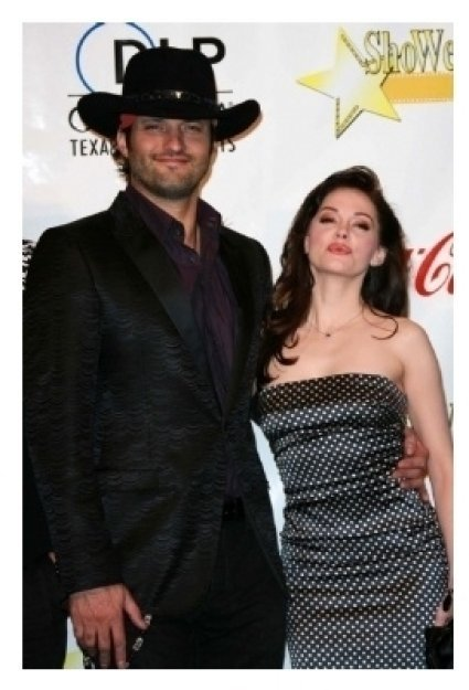 Robert Rodriguez and Rose McGowan