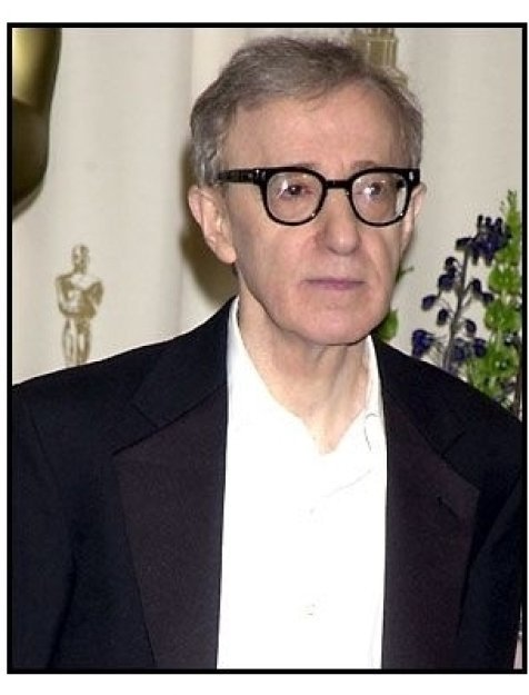 Woody Allen backstage at the 2002 Academy Awards