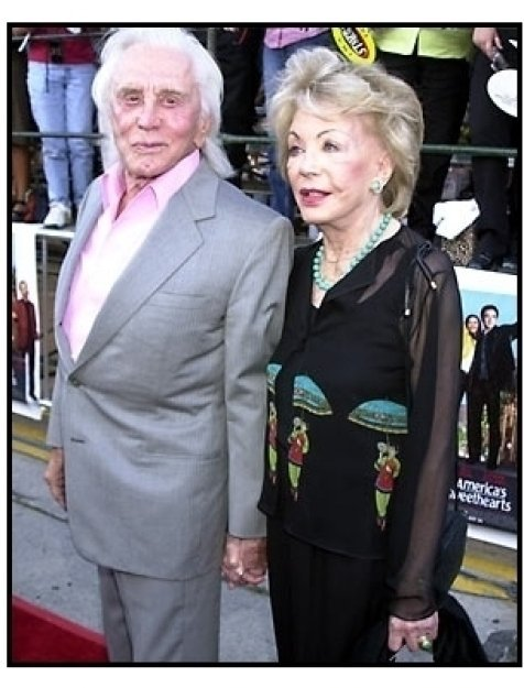 Kirk Douglas and wife at the America's Sweethearts premiere