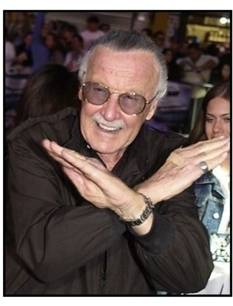 "Stan Lee at the ""X2: X-Men United"" premiere"