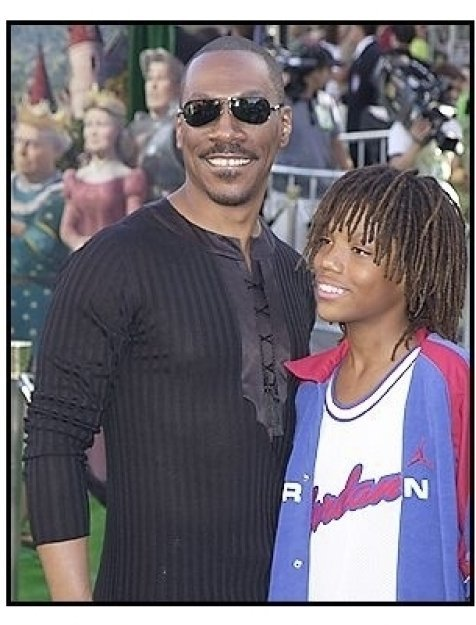 """Eddie Murphy and son at the """"Shrek 2"""" Premiere"""