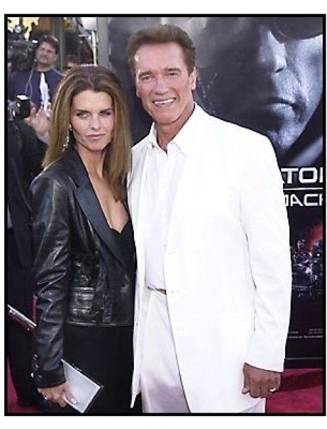 "Arnold Schwarzenegger and Maria Shriver at the ""Terminator 3: Rise of the Machines"" premiere"