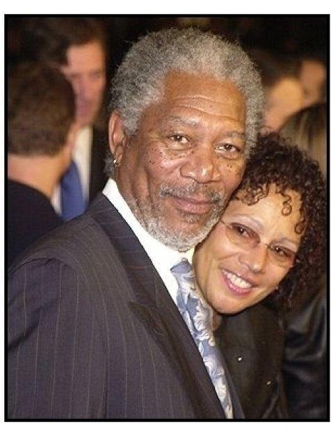"Morgan Freeman and wife Myrna at ""The Big Bounce"" premiere"