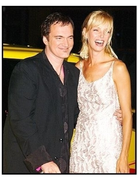 "Quentin Tarantino and Uma Thurman at the ""Kill Bill Vol. 1"" premiere"