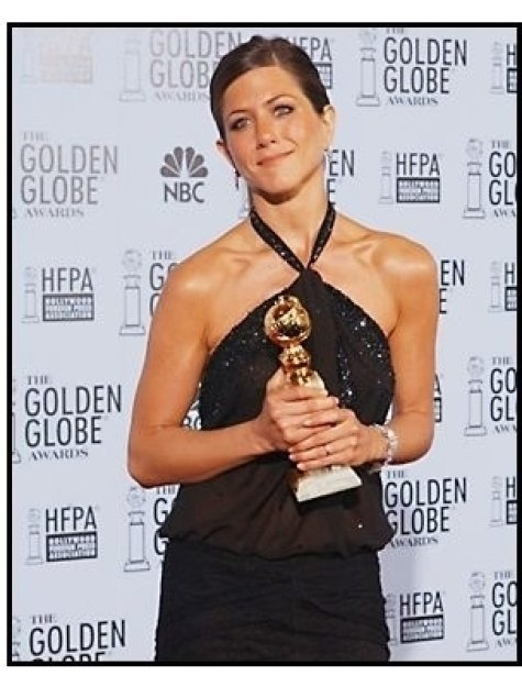2003 Golden Globe Awards Backstage: Jennifer Aniston
