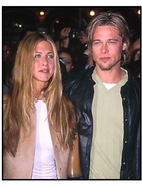Brad Pitt and Jennifer Aniston at the Erin Brockovich premiere
