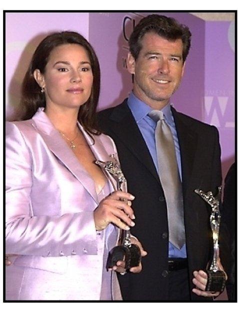 Keely Shaye Smith and Pierce Brosnan at the 2001 Crystal Awards