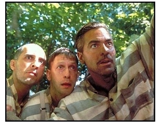 "George Clooney, John Turturro and Tim Blake in ""O Brother, Where Art Thou?"""
