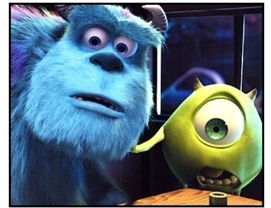 """Monsters Inc."" Movie Still: Sulley and Mike"