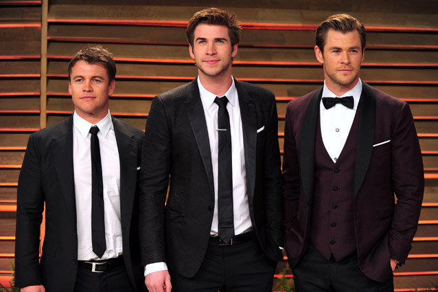 Luke Hemsworth, Liam Hemsworth, Chris Hemsworth