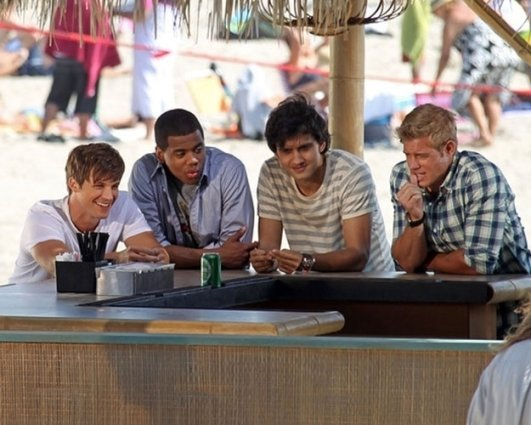 Michael Steger, Matt Lanter, and Trevor Donavan on '90210'